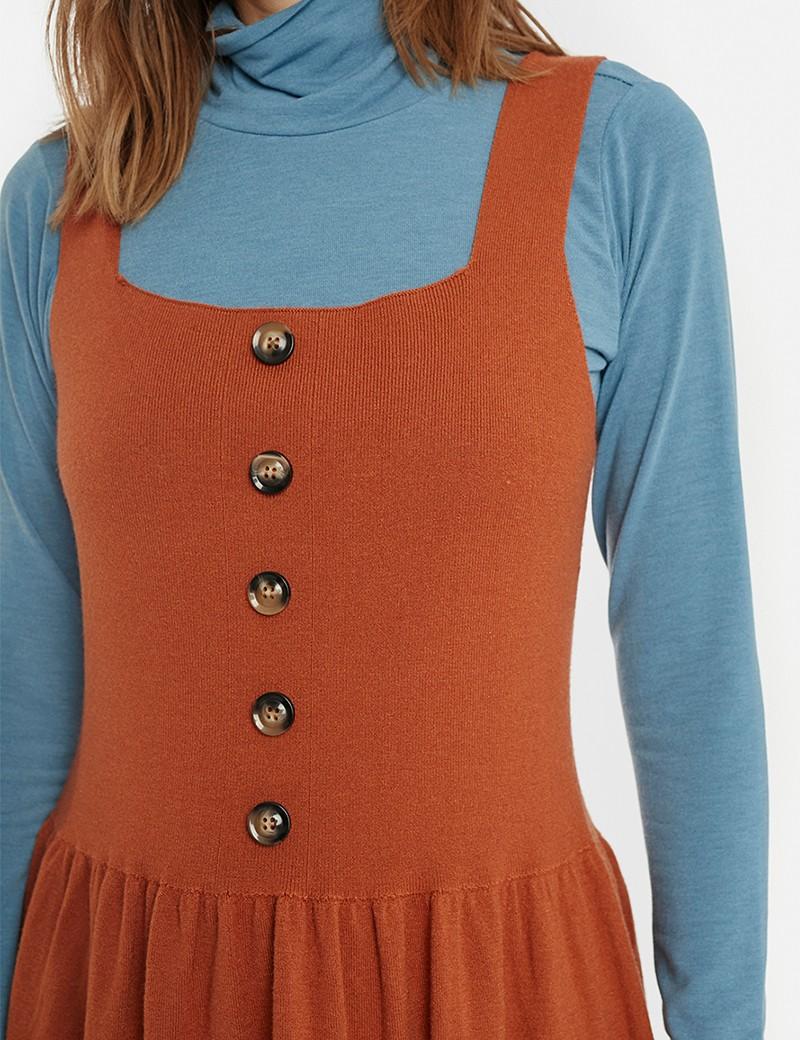 Φόρεμα σαλοπέτα ζέρσεϋ (pinafore) COMPANIA FANTASTICA