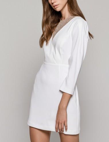 Φόρεμα μακρύ μανίκι με γκλίτερ  ACCESS FASHION