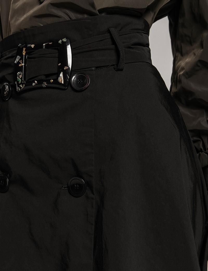 Φούστα κλος σταυροκουμπωτή μαύρη SPELL by ACCESS FASHION