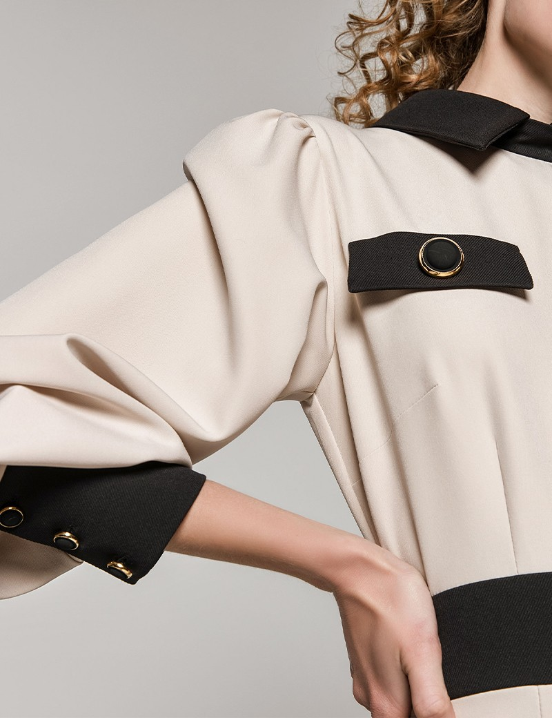 Φόρεμα μακρύ μανίκι με γιακά SPELL by ACCESS FASHION