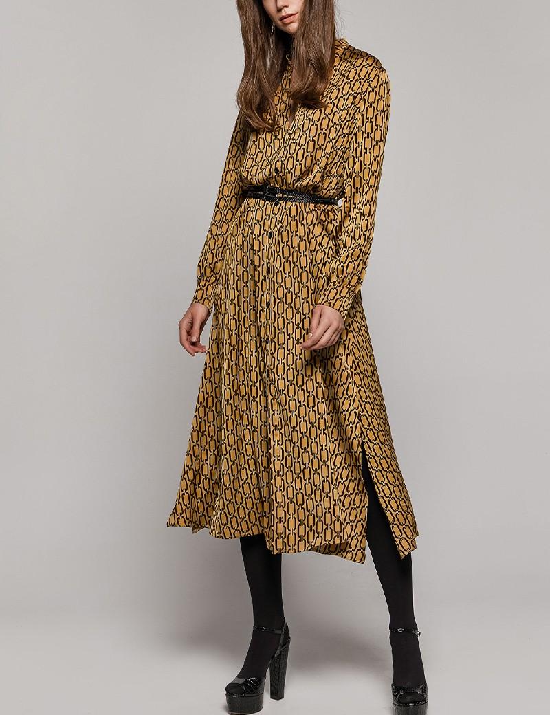 """Φόρεμα σεμιζιέ με print """"αλυσίδα"""" ACCESS FASHION"""