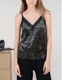 Τοπ lingerie βελουτέ με animal print MOLLY BRACKEN