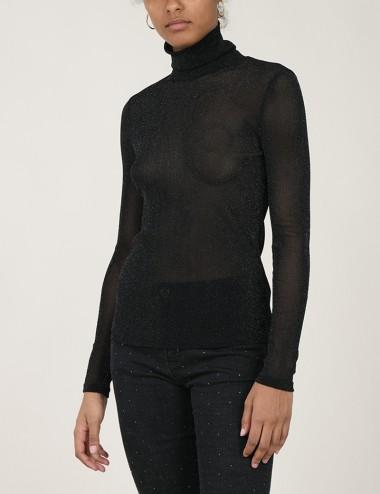 Μπλούζα ημιδιάφανη ζιβάγκο με lurex MOLLY BRACKEN