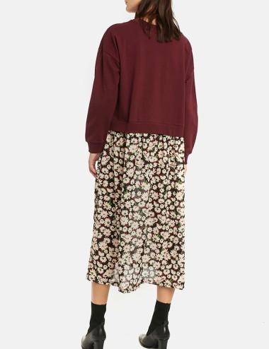 Φόρεμα oversize με δύο υφάσματα COMPANIA FANTASTICA