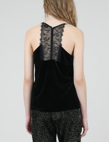 Τοπ lingerie βελούδο με δαντέλα MOLLY BRACKEN