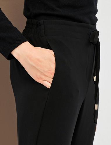 Παντελόνι cropped με λάστιχο στη μέση FOREL