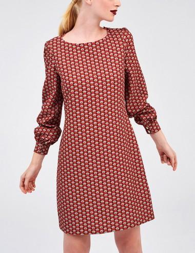 Φόρεμα μακρυμάνικο με print FOREL