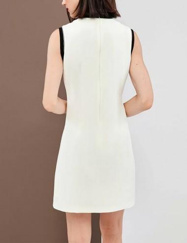Φόρεμα αμάνικο με μεταλλικές τρέσσες FOREL