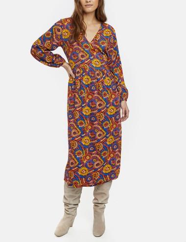 Φόρεμα φλοράλ κρουαζέ COMPANIA FANTASTICA