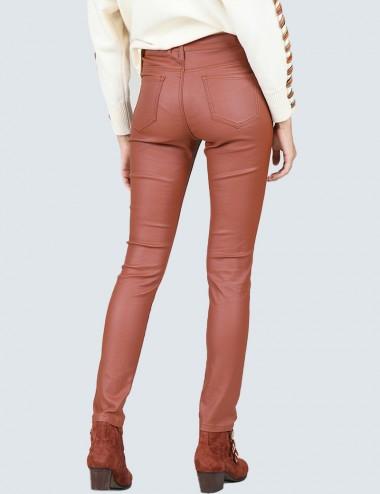 Παντελόνι slim fit με επίστρωση MOLLY BRACKEN