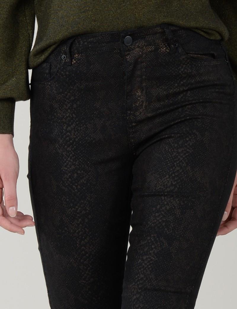 Παντελόνι strech με print κροκό MOLLY BRACKEN