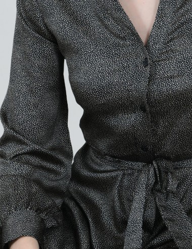 Φόρεμα σεμιζιέ σατέν με print MOLLY BRACKEN