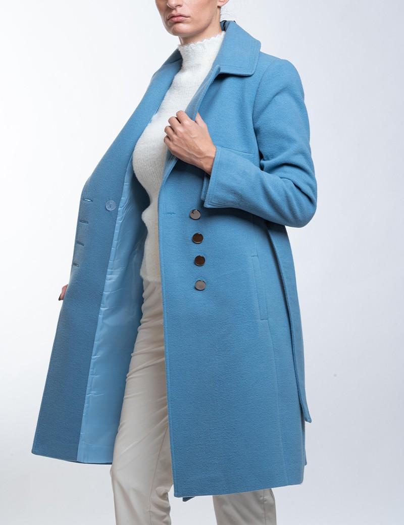 Παλτό βελούρ με μεγάλα πέτα ANGELO PSARROS