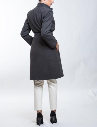 Παλτό βελούρ με μεγάλο γιακά ANGELO PSARROS
