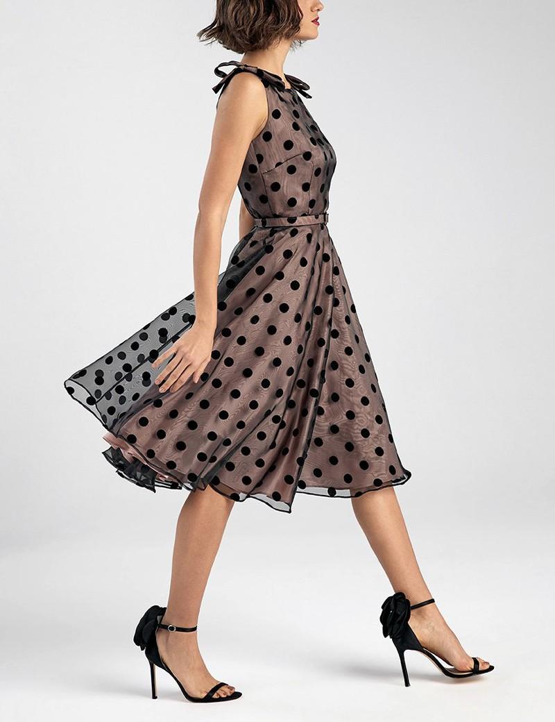 Φόρεμα από οργάντζα με μεγάλα πουά FOREL by VASSILIS ZOULIAS