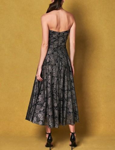 Φόρεμα στράπλες με δαντέλα FOREL by VASSILIS ZOULIAS