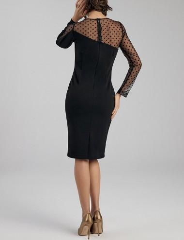 Φόρεμα pencil με διαφάνεια FOREL