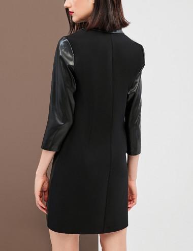 Φόρεμα μίνι σεμιζιέ από δερματίνη FOREL