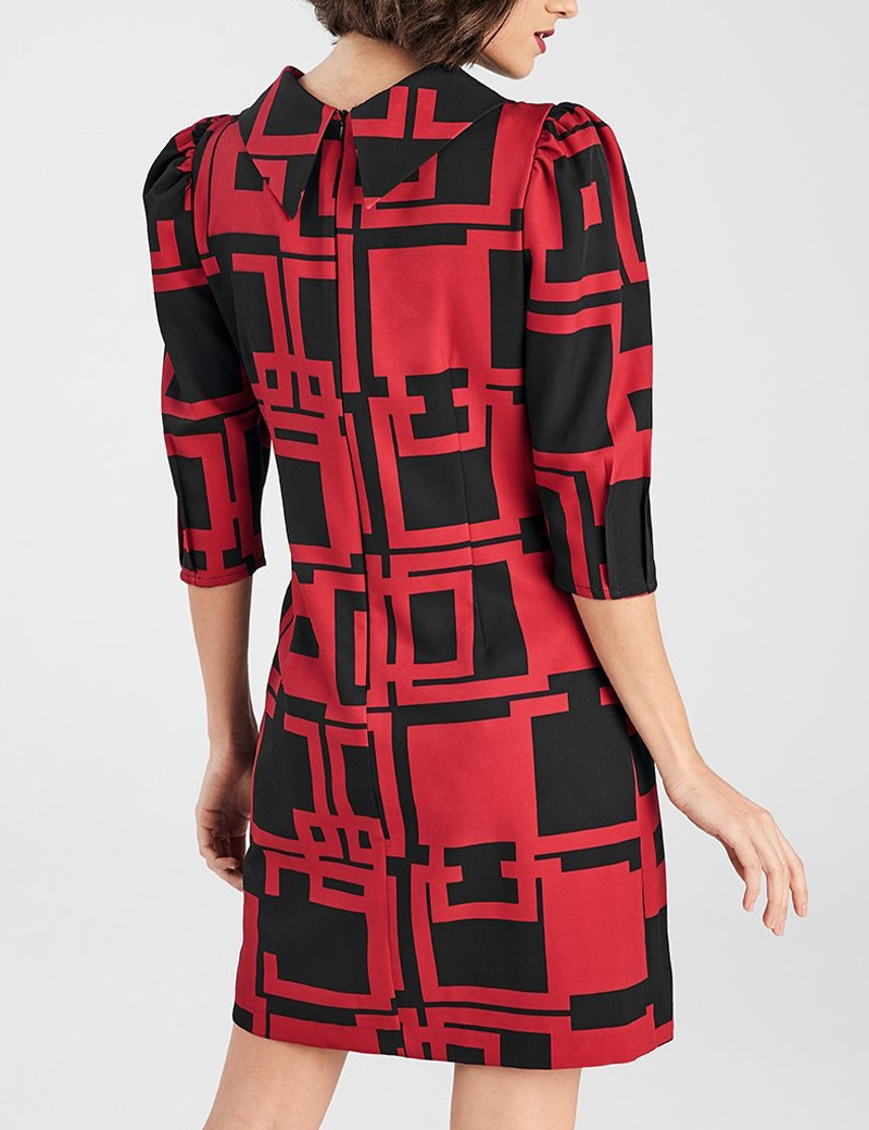 Φόρεμα σάκος με print FOREL