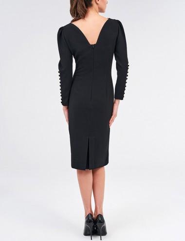Φόρεμα μίντι με κουμπιά στα μανίκια FOREL