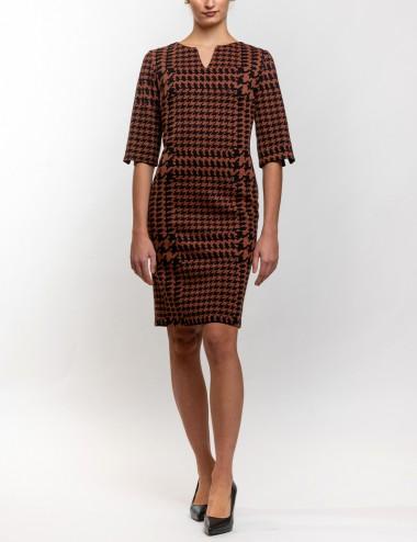 Φόρεμα σάκος ζέρσεϋ με κοψίματα ΒΑΖΙΑΝΑ
