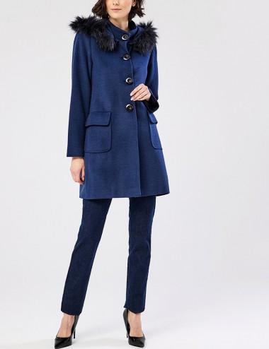 Παλτό με κουκούλα και τσέπες FOREL