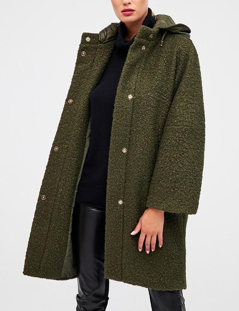 Παλτό μπουκλέ με κουκούλα FOREL