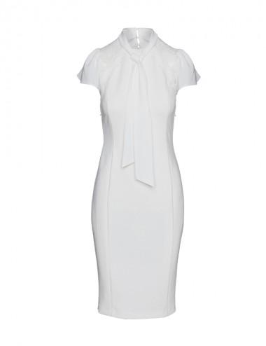 Φόρεμα pencil με δαντέλα στους ώμους ACCESS FASHION