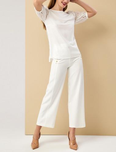 Μπλούζα με κέντημα σε μανίκια και πλάτη FOREL