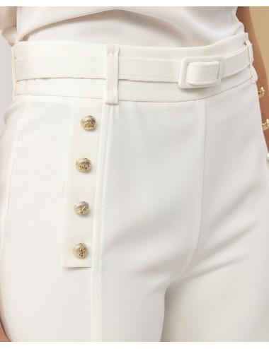 Παντελόνι cropped με χρυσά κουμπιά FOREL