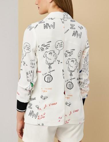 Σακάκι με γκράφιτι πριντ