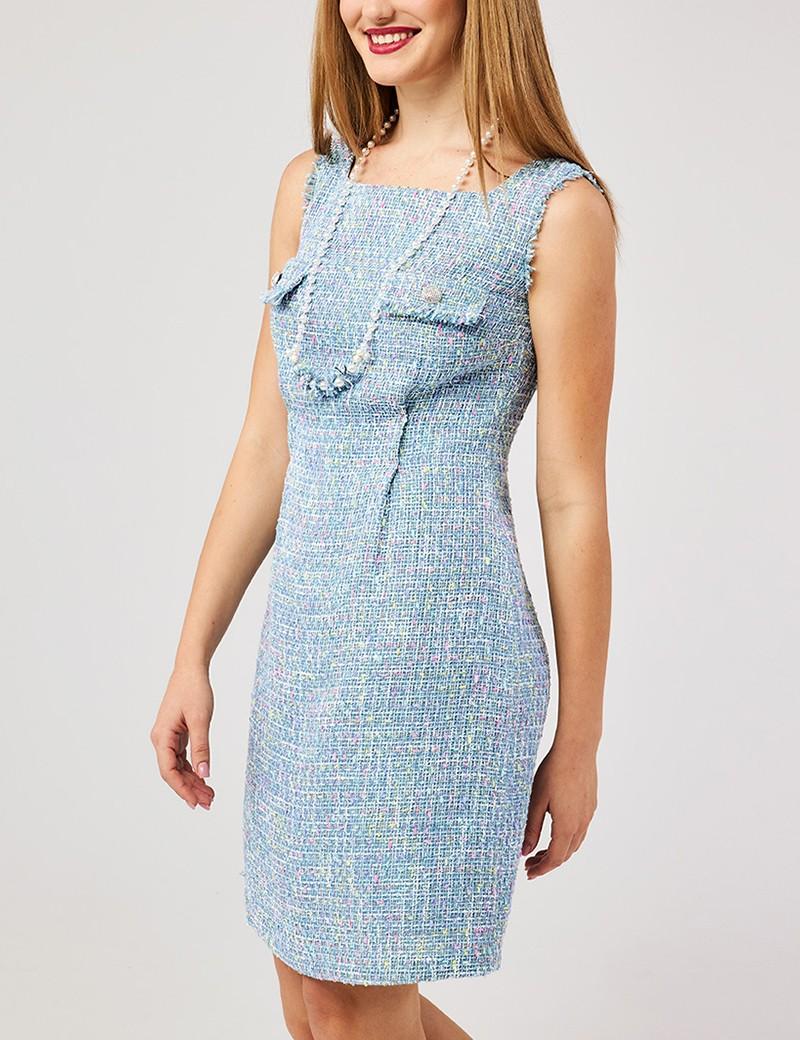 Φόρεμα αμάνικο με τσέπες στο στήθος FOREL