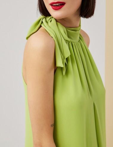 Φόρεμα αμπίρ με παρτούς ώμους FOREL