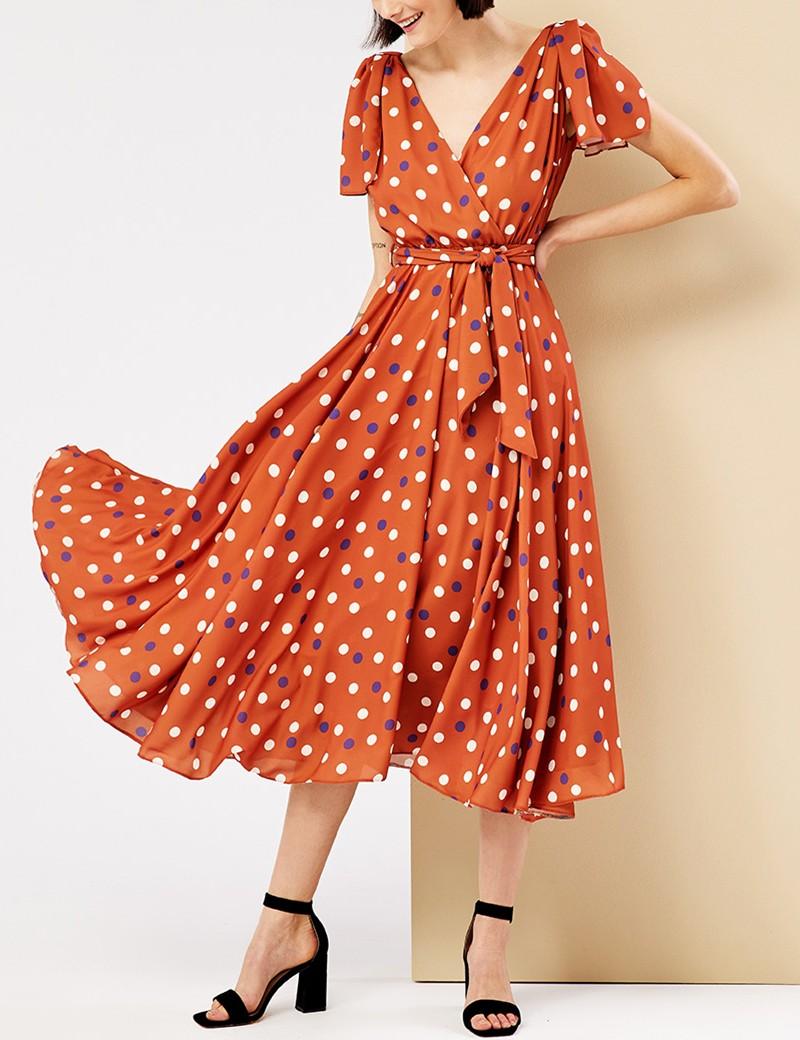 Φόρεμα κρουαζέ πουά FOREL