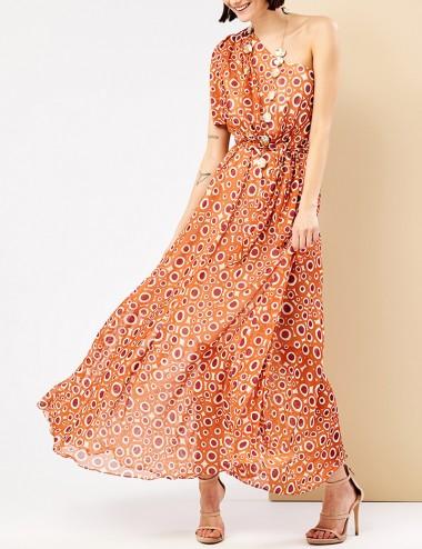 Φόρεμα μάξι με ένα ώμο FOREL