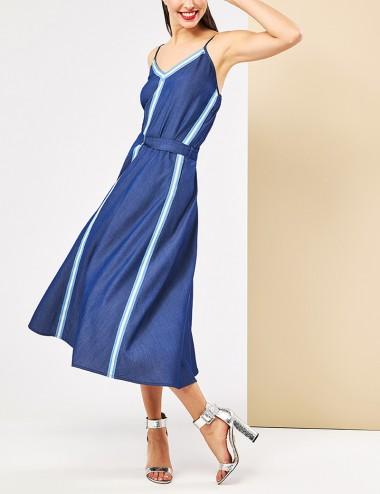 Φόρεμα midi με όψη τζην FOREL