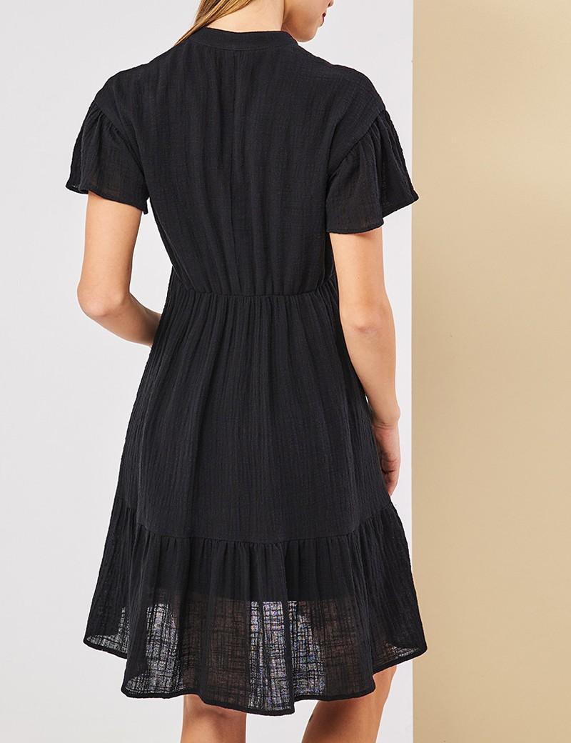 Φόρεμα βαμβακερό με κουμπάκια και κέντημα  FOREL