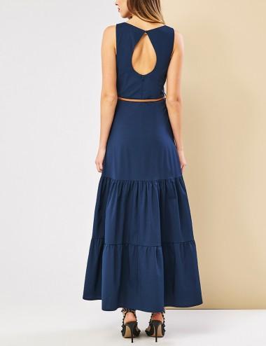 Φόρεμα μάξι με άνοιγμα στην πλάτη FOREL