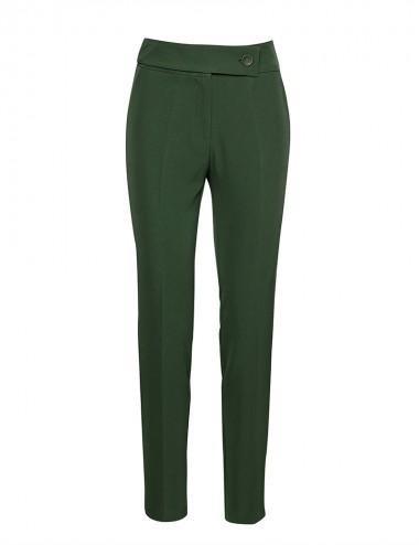 Παντελόνι ψηλόμεσο με ζωνάρι πράσινο ACCESS FASHION