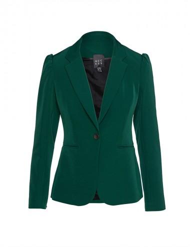Σακάκι μπλέιζερ με ρελιαστές τσέπες πράσινο ACCESS FASHION