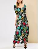 Φόρεμα φλοράλ με ανοιχτή πλάτη FOREL