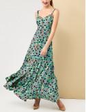 Φόρεμα φλοράλ τιραντάκι με κουμπάκια FOREL