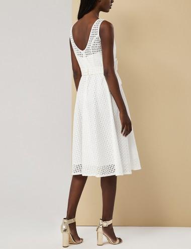 Φόρεμα μίντι με μπροντερί FOREL