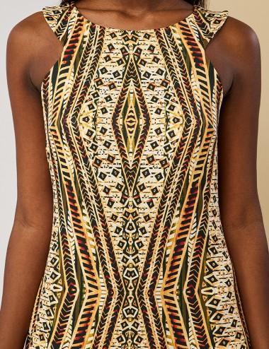 Φόρεμα μάξι με έθνικ print FOREL