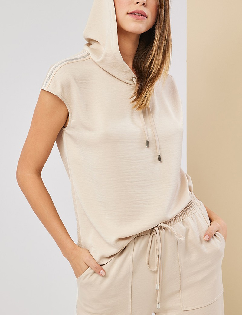 Μπλούζα με κουκούλα και τρέσσα στους ώμους FOREL