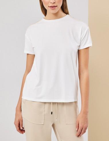 Μπλούζα t-shirt με τρέσα στο μανίκι FOREL