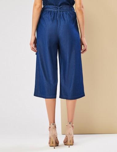 Παντελόνα βαμβακερή με όψη denim FOREL