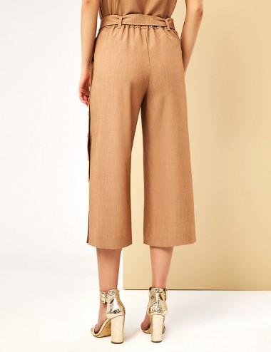 Παντελόνι cropped με κουμπιά στο πλάι FOREL