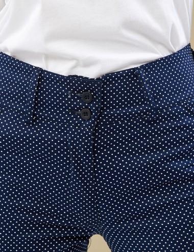 Παντελόνι βαμβακερό πουά FOREL