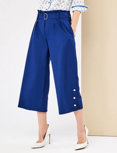 Παντελόνα με πιέτες και ζώνη FOREL